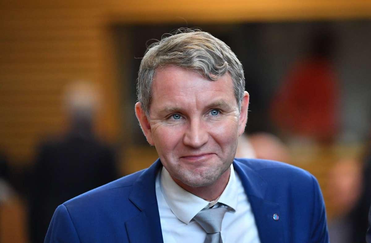 Der AfD-Politiker Björn Höcke (Archivbild) Foto: dpa/Martin Schutt