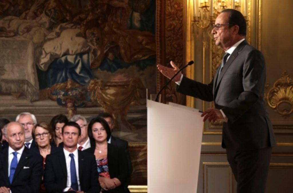 François Hollande hat zugesagt, dass Frankreich 24.000 weitere Flüchtlinge aufnehmen werde. Foto: dpa