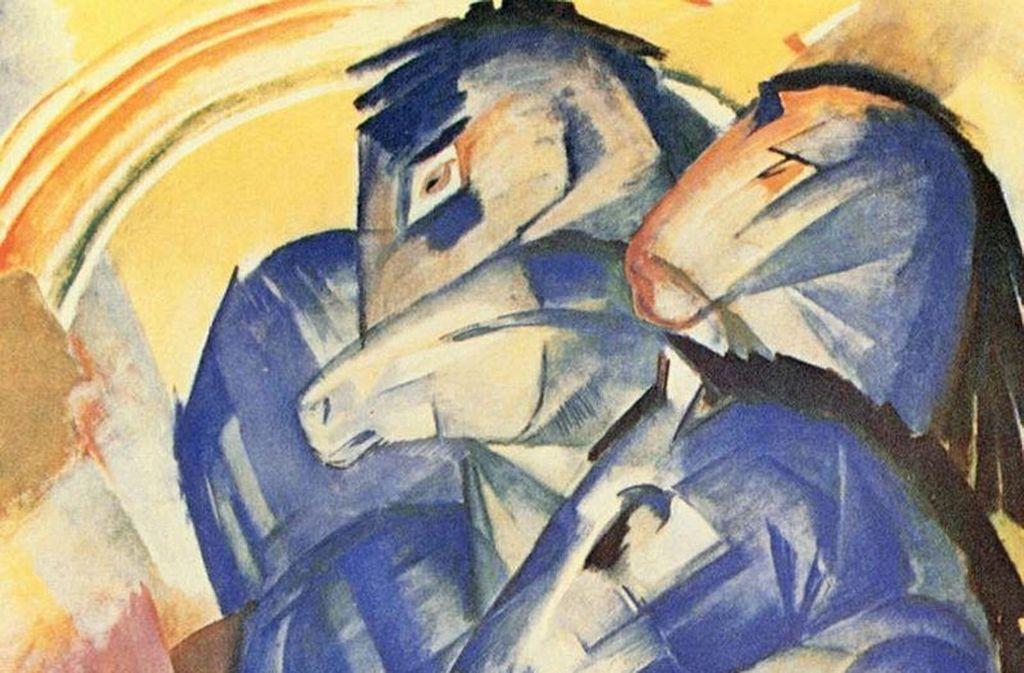 """Franz Marcs """"Turm der blauen Pferde"""" (Ausschnitt) ist seit 1945 verschollen. Der letzte bekannte Besitzer war Hermann Göring. Foto: Wikipedia"""