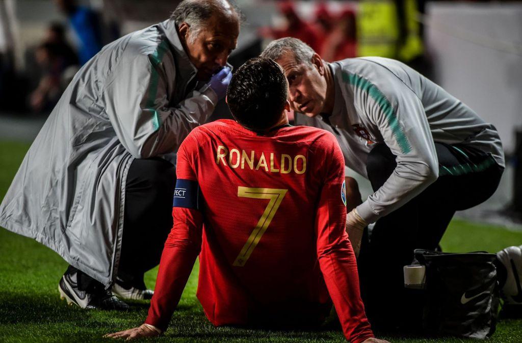 Wird Cristiano Ronaldo rechtzeitig fit? Foto: AFP