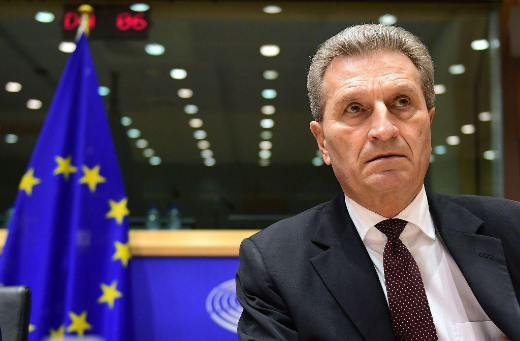 Günther Oettinger hat sich für abschätzige Äußerungen entschuldigt. Foto: AFP