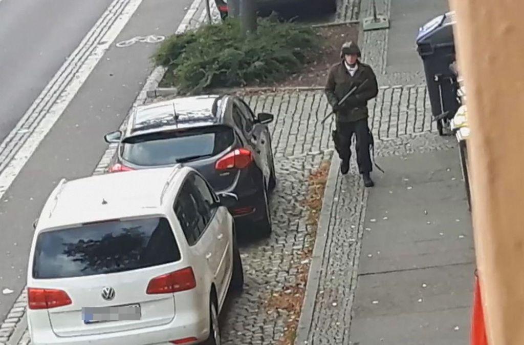 Der mutmaßliche Täter von Halle. Foto: AFP/ANDREAS SPLETT