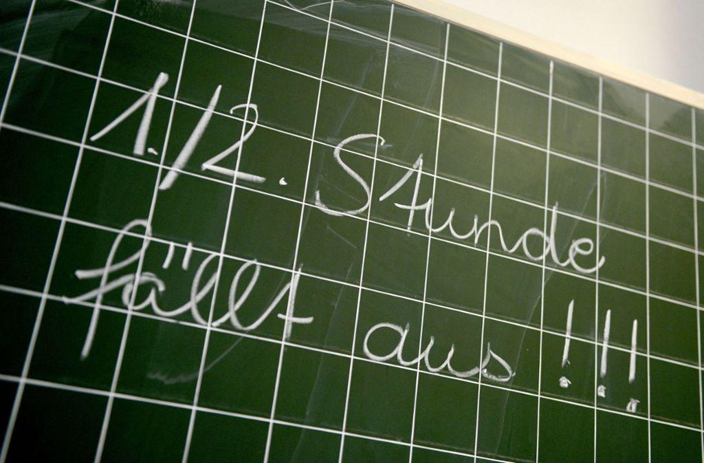 Jede zehnte Schulstunde in Baden-Württemberg findet nicht wie geplant statt. Foto: dpa
