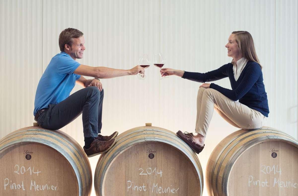 Chardonnay-Fans seit ihrem Praktikum in den Vereinigten Staaten: Wiebke und Tobias Hirschmüller Foto: (c) by Anna Günther/Anna Günther
