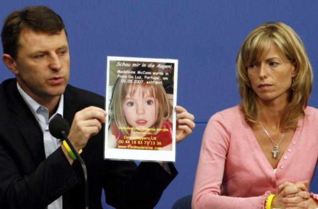 Seit Jahren suchen Kate und Gerry McCann verzweifelt nach ihrer Tochter Madeleine. Foto: ddp