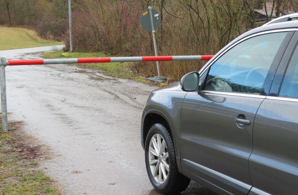 Seit Dezember müssen Autofahrer hier unverrichteter Dinge umkehren. Foto: Bernd Zeyer