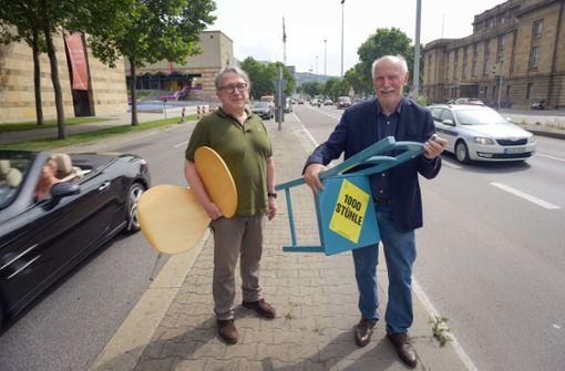 Aufbruch Stuttgart veranstaltet Sit-in auf der B14