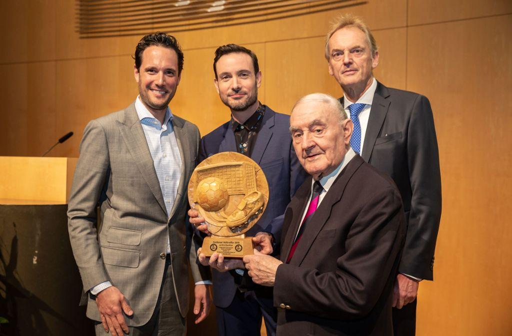 Fabian Mayer, Eric Gauthier, Werner Schüle und  Nikolaus Schleicher (v.l.) Foto: Lichtgut/Julian Rettig