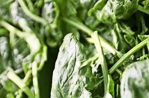 Spinat  mit unerwünschter Fleischbeilage