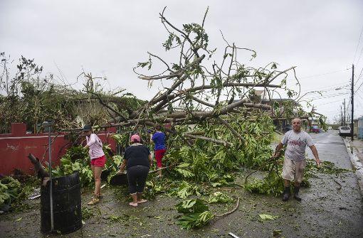 """Hurrikan """"Maria"""" hinterlässt auf Puerto Rico Zerstörung"""