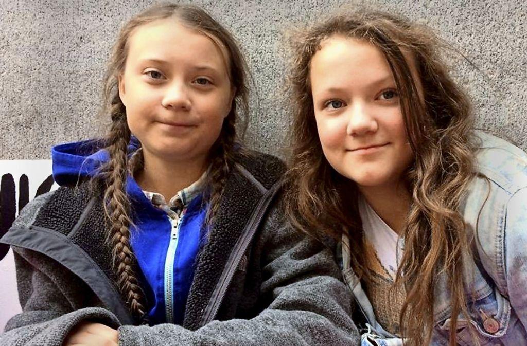 Verstehen sich gut: Greta Thunberg und ihre kleine Schwester Beata. Foto: © Instagram/Greta Thunberg