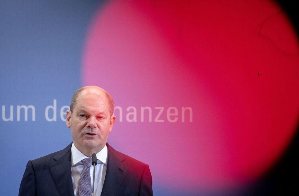 Bundesfinanzminister Olaf Scholz (SPD) präsentierte am Montag die Eckwerte des  Haushalts 2020. Foto: dpa