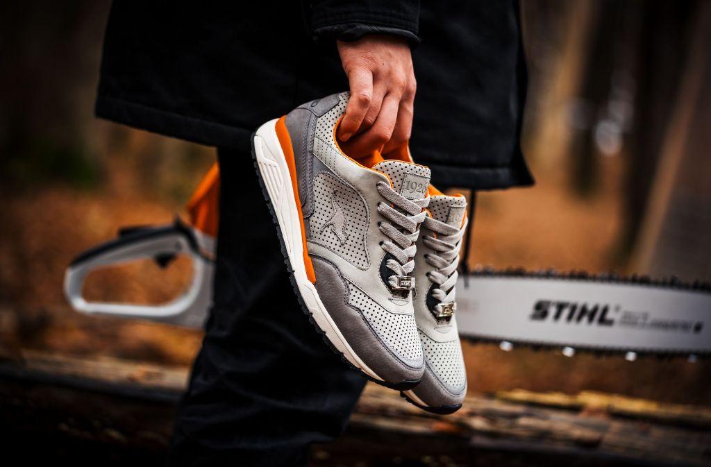 """Der """"Stihl X Kangaroos""""-Sneaker kommt an diesem Freitag auf dem Markt. Foto: Stihl"""