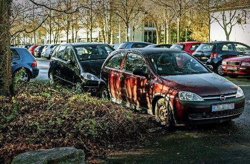 Parken erlaubt, auch wenn es eng wird