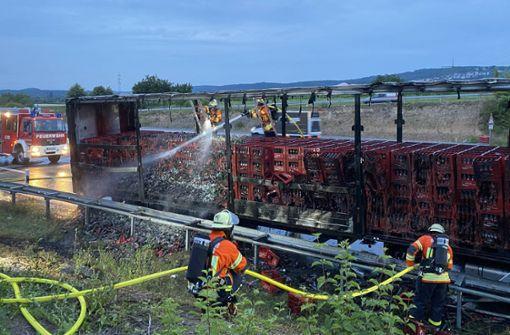 Laster brennt aus –  Beeinträchtigungen auf A81