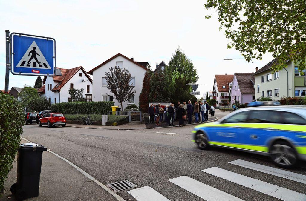 Anfang Oktober gab es einen Ortstermin an der Ludwigsburger Straße. Foto: Patricia Sigerist