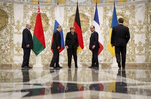 Bewegung bei Treffen in Minsk