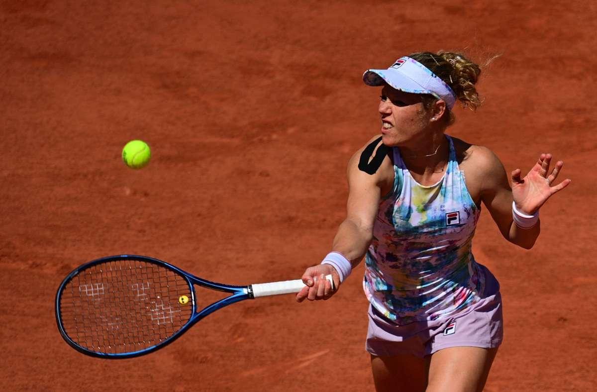 Aus für Laura Siegemund bei den French Open in Paris. Foto: AFP/MARTIN BUREAU