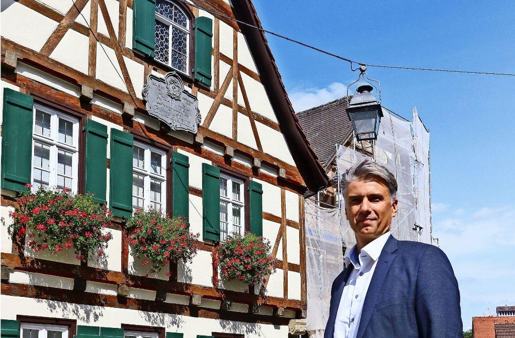 Treffpunkt Geburtshaus von Friedrich Schiller. Der Dichter steht für Marc Jongen für das gute Deutschland, für ein freies Deutschland. Foto: factum/Granville
