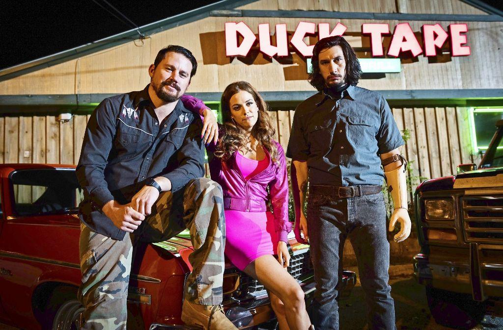 """Suche nach Wegen aus der Misere: Channing Tatum, Riley Keough und Adam Driver  (v. li.) in """"Logan Lucky"""" Foto: Verleih"""