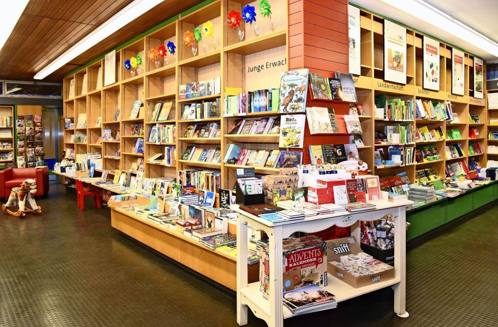 Diese Zeiten sind vorbei: Der Buchladen  hat dicht gemacht. Foto: