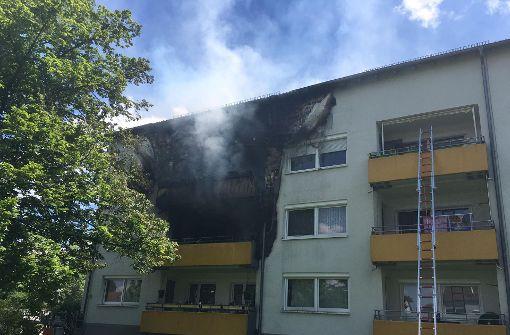 Neun Verletzte bei Hausbrand