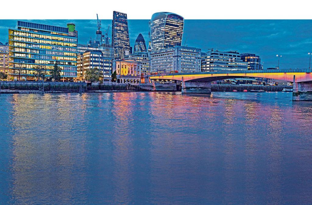 Nicht nur die Finanzwelt wie hier in London hat das Instrument der Blockchains entdeckt. Foto: dpa