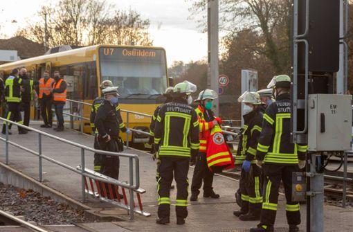 Tödlicher Stadtbahnunfall an der Haltestelle Pragfriedhof