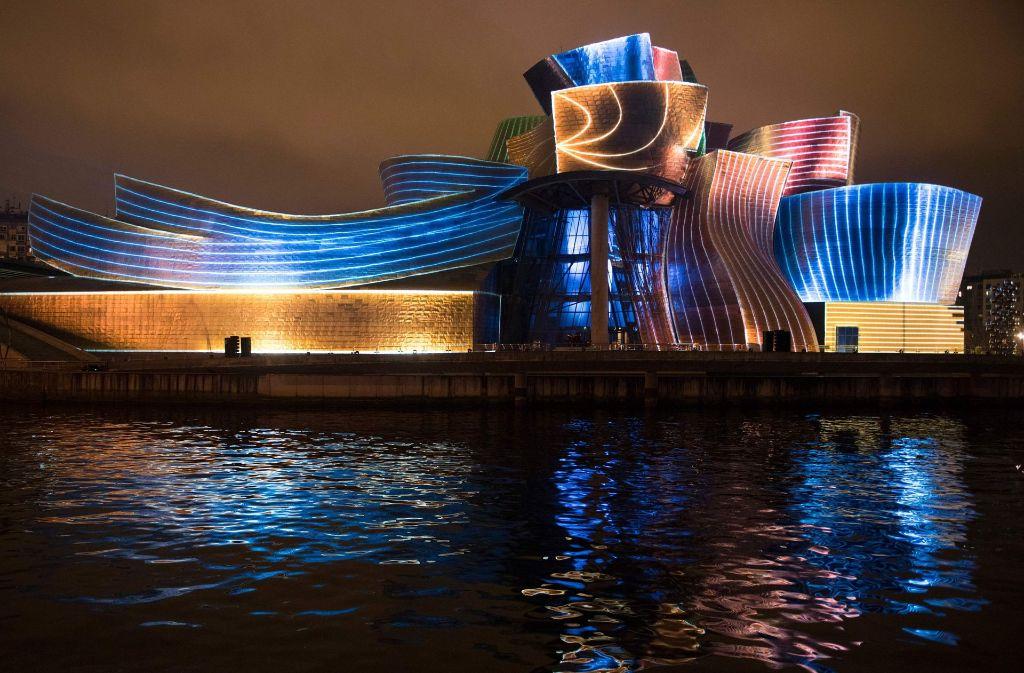 Farben-Spektakel zum Geburtstag des Guggenheim-Museums. Foto: AFP