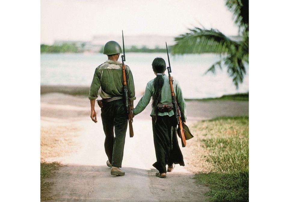 Für  Bilder  abseits des Kriegsgeschehens ist der Chemnitzer Fotograf Thomas Billhardt bekannt geworden. Dieses Foto stammt aus Vietnam 1968. Foto: Thomas Billhardt