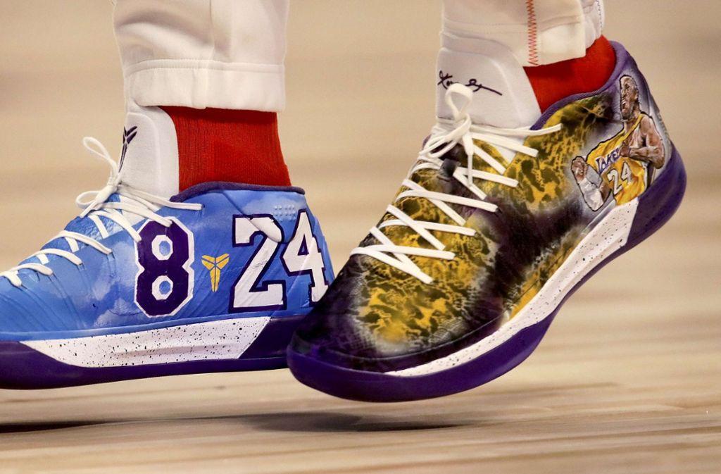 Pascal Siakam von den Toronto Raptors trug diese Schuhe beim Allstar Game der NBA. Foto: AFP/JONATHAN DANIEL