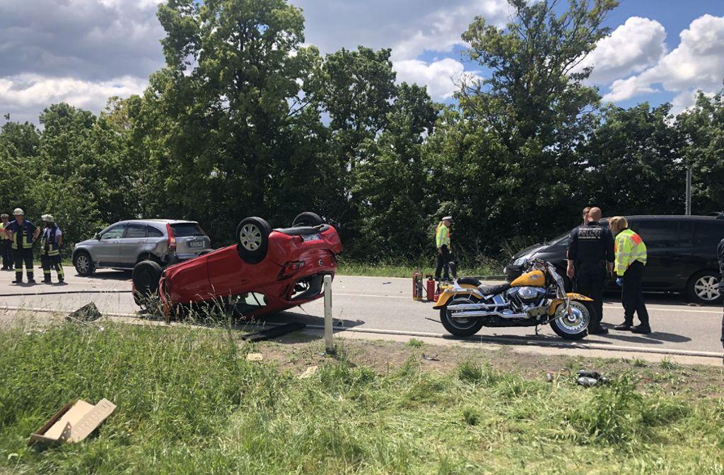 Der Unfall ereignete sich auf der B10 bei Schwieberdingen. Foto: SDMG/Hemmann