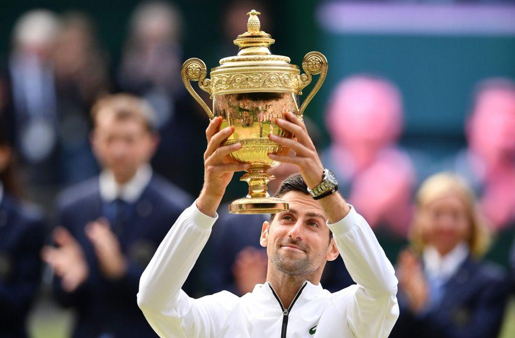Novak Djokovic hat seinen Titel in Wimbledon verteidigt. Foto: AFP
