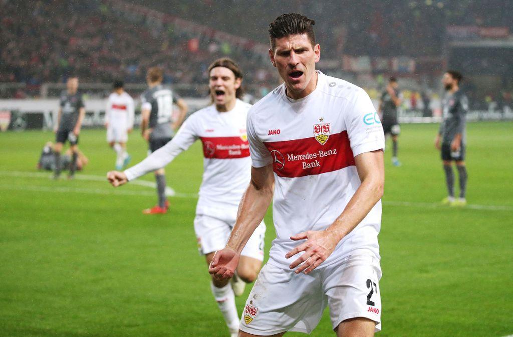 Mario Gomez hatte mit einem Tor und einer Vorlage entscheidenden Anteil an dem Sieg gegen den FCN. Foto: Pressefoto Baumann/Alexander Keppler