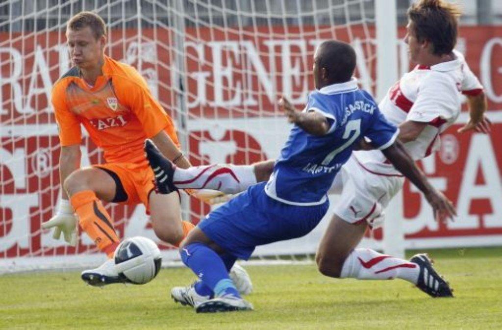 Bernd Leno gilt als ein großes Torwarttalent. Der  19-Jährige hat in der Saison 2010/11 37 Mal für ... Foto: Baumann
