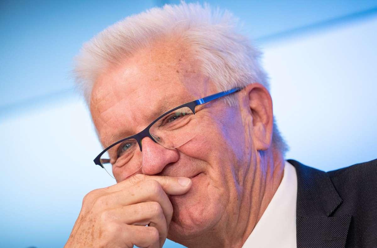 Ministerpräsident Winfried Kretschmann zählt zu den Gratulanten. Foto: dpa/Sebastian Gollnow