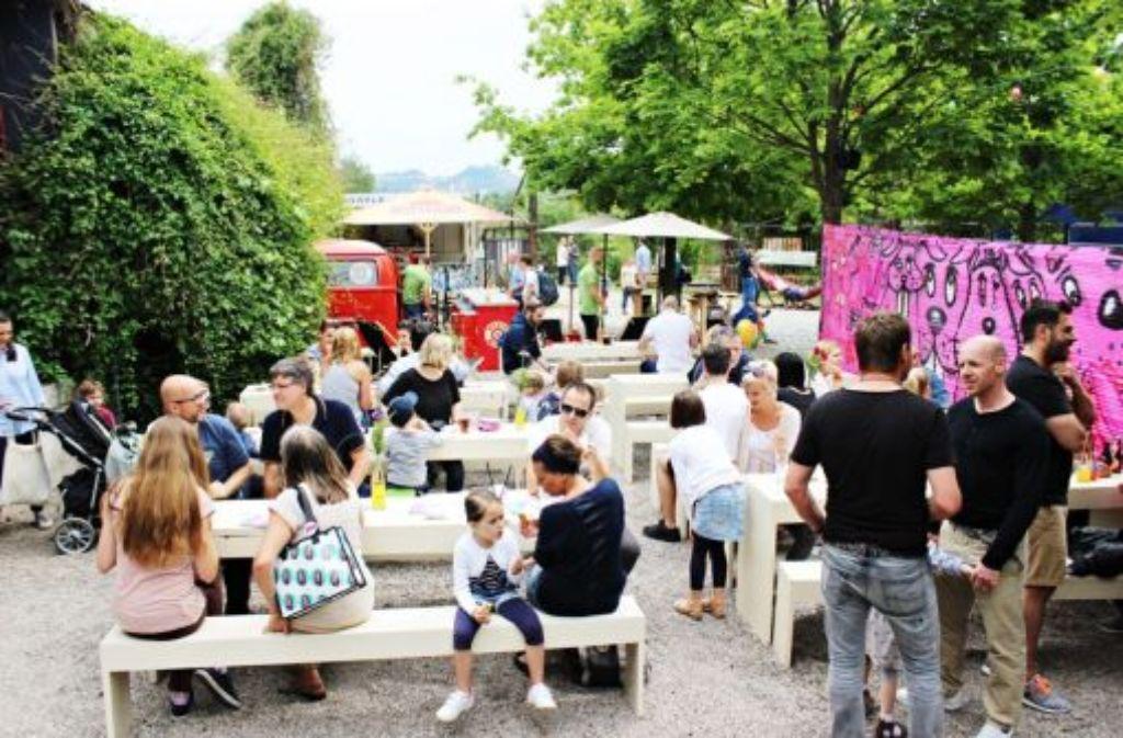 Der erste gemeinnützige Biergarten der Stadt steht in Bad Cannstatt. Foto: Kulturinsel