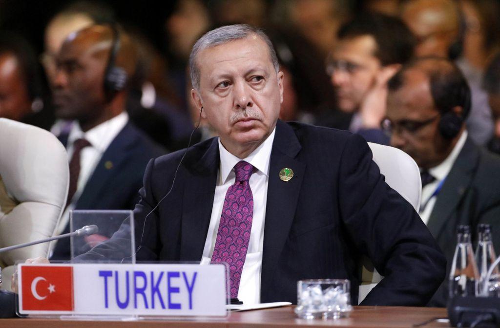 Geht hart gegen Oppositionelle vor – auch im Ausland: der türkische Präsident Erdogan. Foto: AP