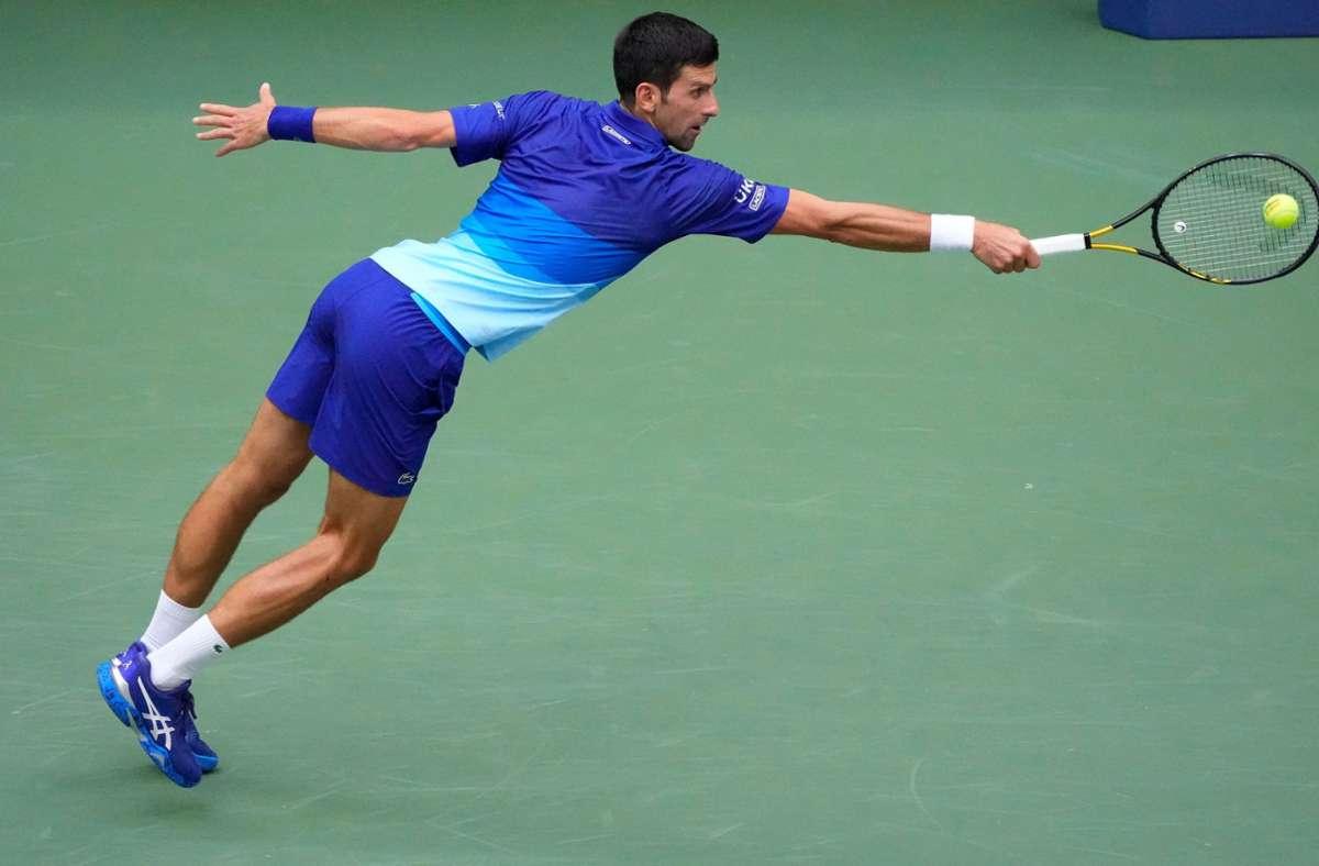 Novak Djokovic hat sich vergeblich nach dem Grand Slam gestreckt. Foto: AFP/TIMOTHY A. CLARY