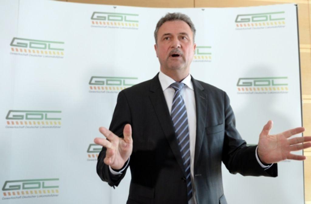 GDL-Chef Claus Weselsky hat das Management der Deutschen Bahn erneut scharf kritisiert. Foto: dpa-Zentralbild