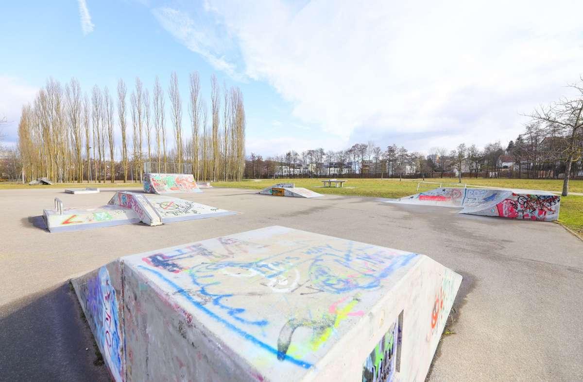 Der Skaterpark am Böblinger Baumoval. Foto: Stefanie Schlecht/Stefanie Schlecht