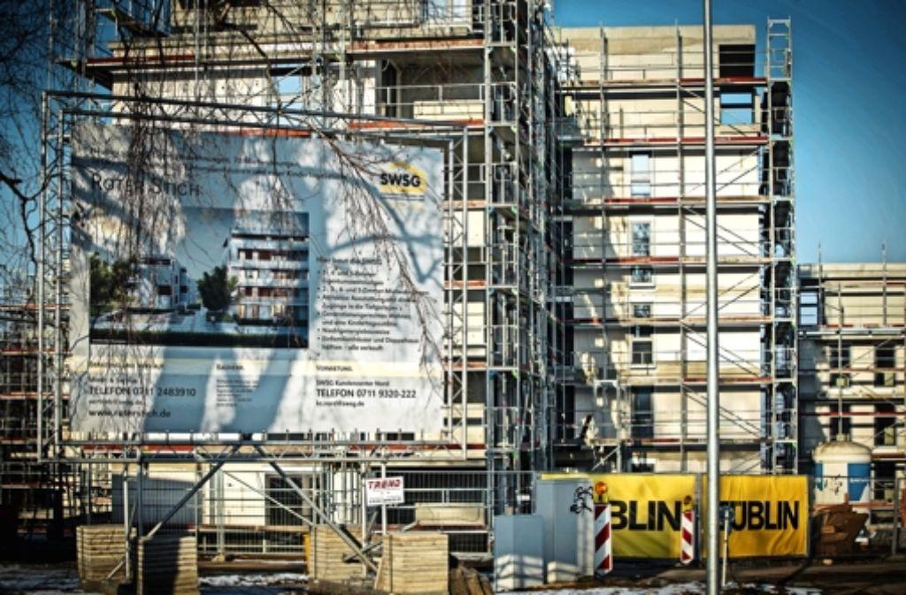 Die städtische Wohnungsbautochter ist am Roten Stich am Werk. Foto: Lichtgut/Achim Zweygarth