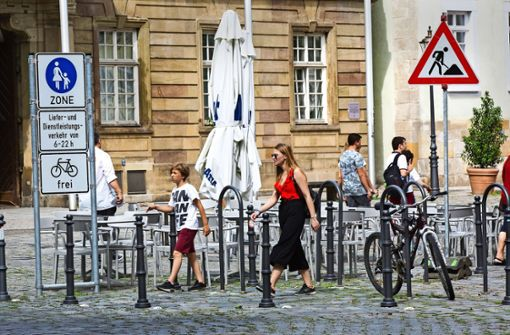 Der Rathausplatz bleibt Fußgängerzone