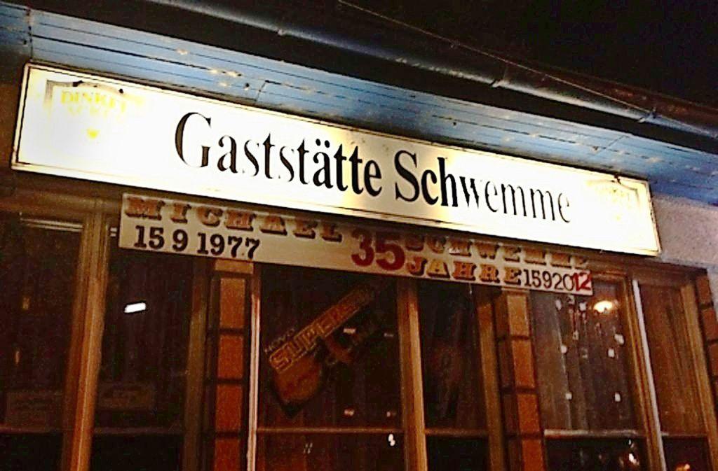 Eine Kneipen-Institution in Stuttgart-Bad Cannstatt: die Schwemme. Foto: Schmidt
