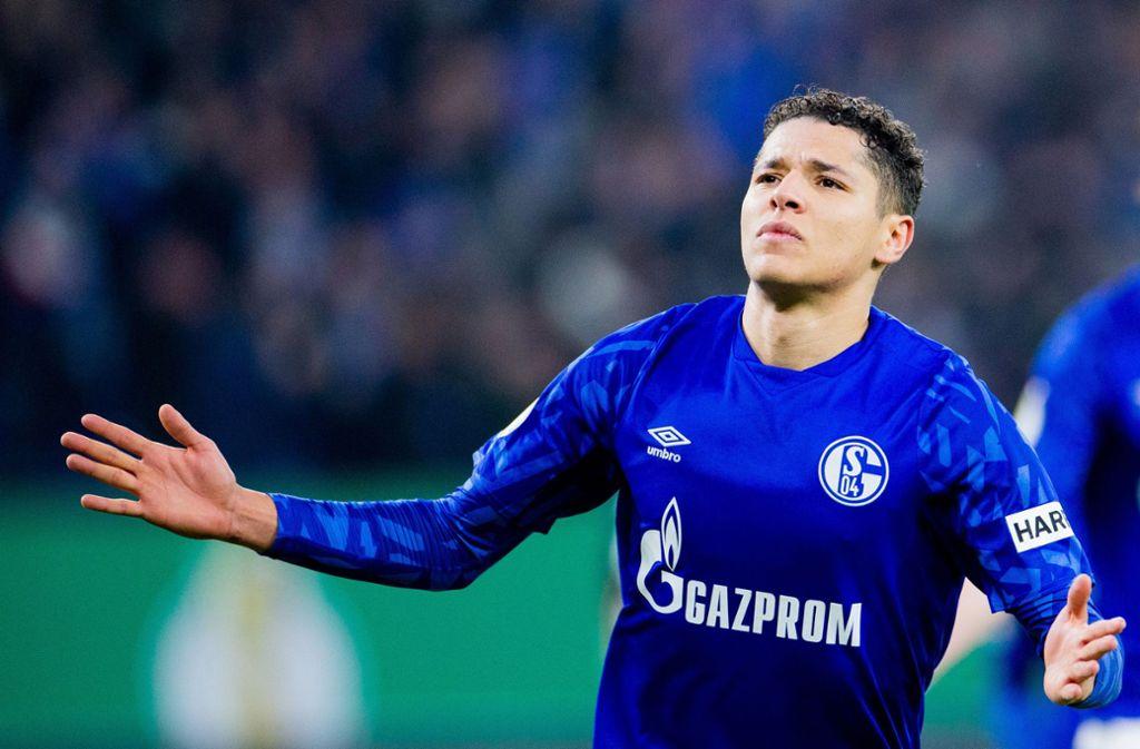 Amine Harit zeigte sich nach dem Vorfall einsichtig, berichtet Schalkes Sportvorstand Jochen Schneider. Foto: dpa/Rolf Vennenbernd