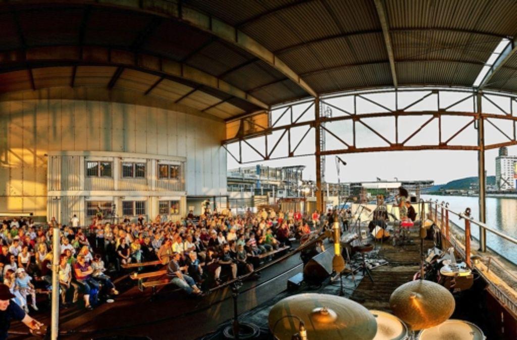 So schön kann Kultur am Neckar in der Abendsonne glänzen. Foto: Alexander Schäfer
