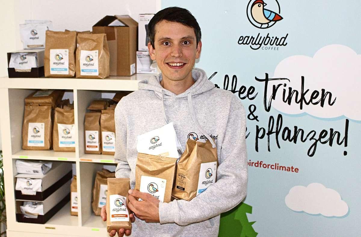 Der Sillenbucher Emanuel Vonarx hat Earlybird Coffee gegründet. Foto: Holowiecki