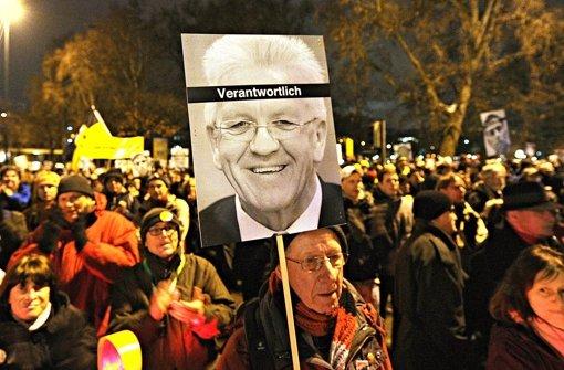 S-21-Gegner sind auf Winfried Kretschmann und die Grünen nicht mehr gut zu sprechen. Foto: dpa
