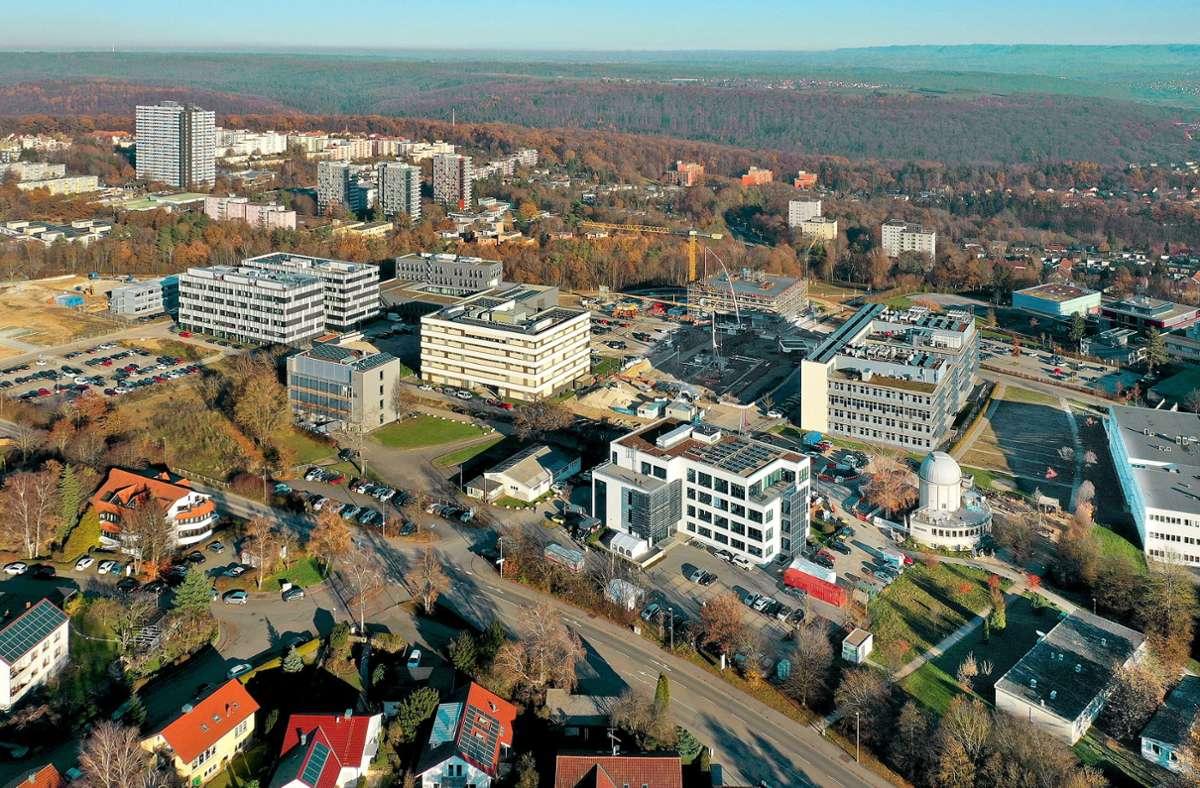 Die Obere Viehweide in Tübingen ist zu einem Standort der medizinischen Spitzenforschung geworden. Foto: Manfred Grohe