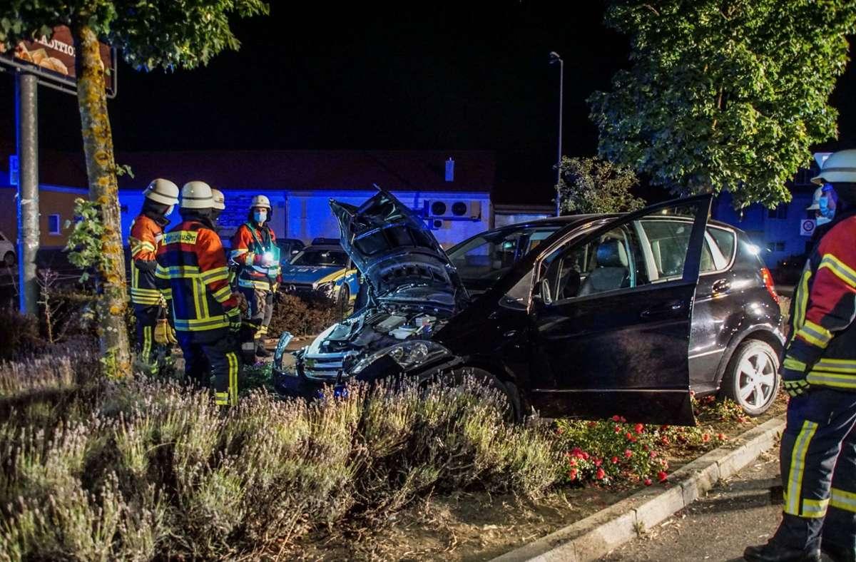 Die Fahrerin blieb unverletzt. Foto: SDMG//Dettenmeyer